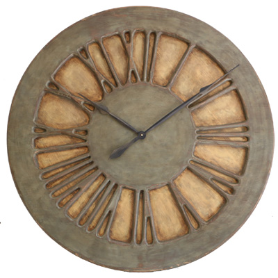 French Wall Clock with Roman Numerals