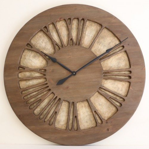 Beautiful Wooden & Handmade Centrepiece Wall Clock for your Lounge
