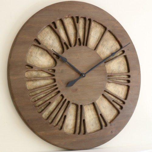 Duży Zegar Ozdobny z lewej strony