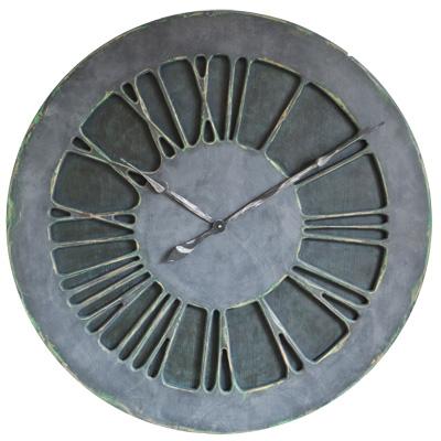 Zegar ścienny w kolorze dżinsu
