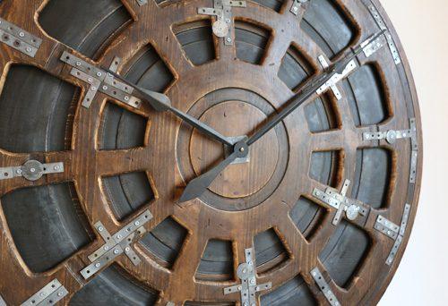 Zegar w Stylu Industrialnym z bliska