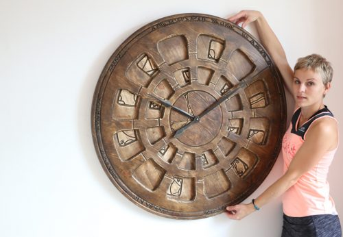 large designer wall clock