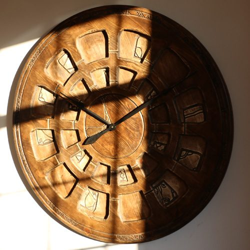 Handmade Giant Designer Wall Clock. Wood & Hand Painted.