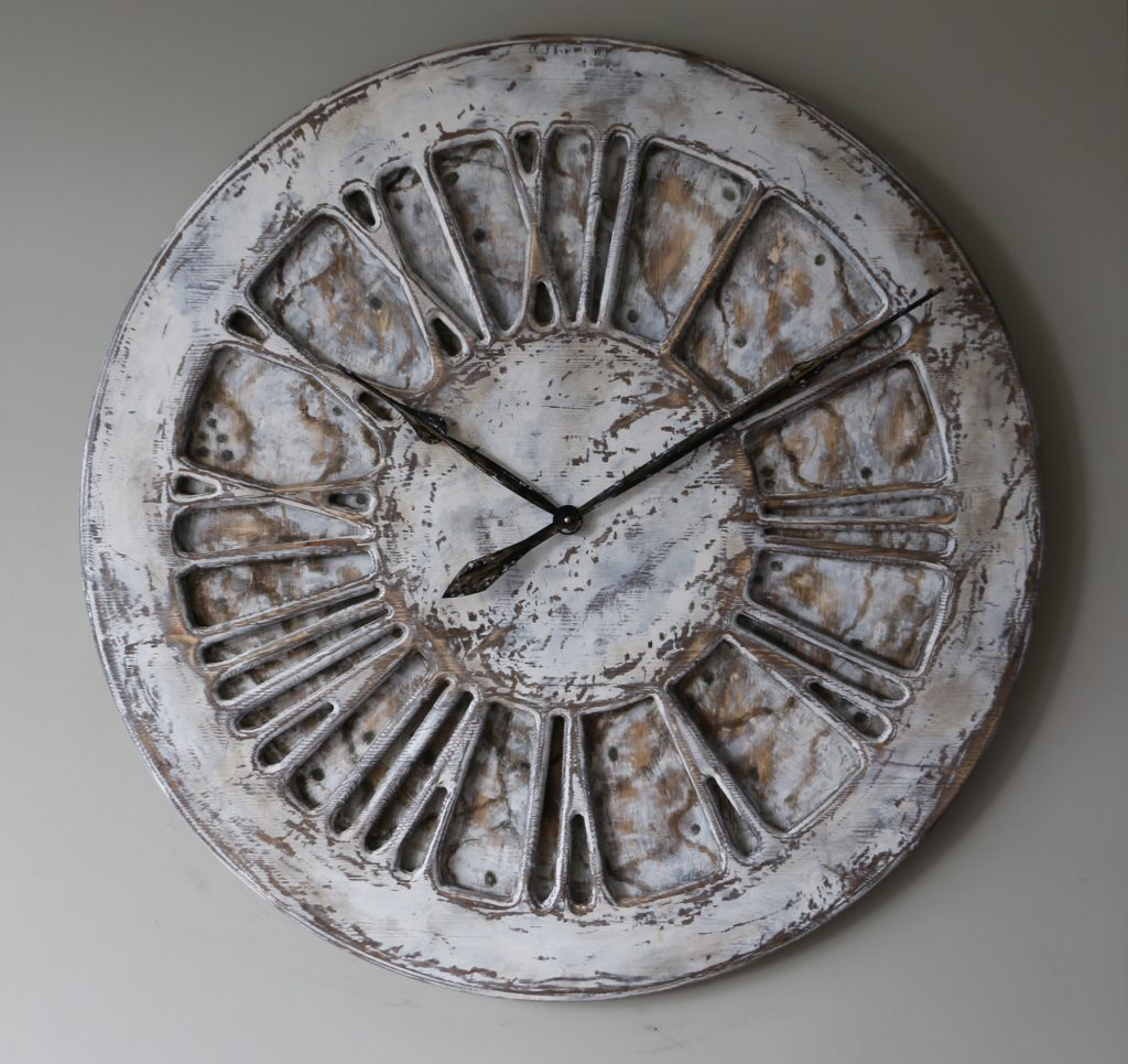 Large Shabby Chic Clocks - White
