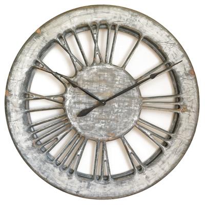White Shabby Chic Clock