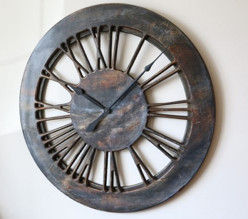 "Contemporary Extra Large 40"" Wooden Wall Clock Handmade."