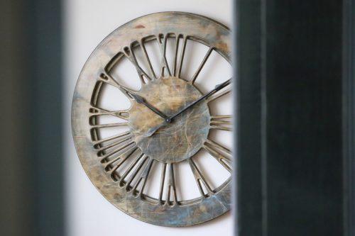 Extra Large Impressive Statement Contemporary Clock. Handmade & Hand Painted 100 cm