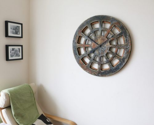 unique decorative clock on the wall
