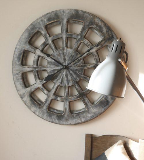 grey decorative clock for kitchen