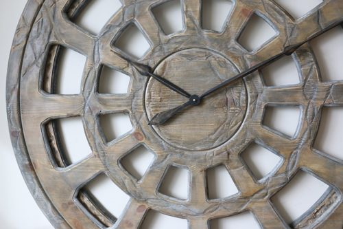 Massive Wall Clock made of wood