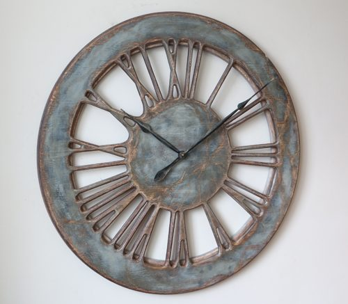 Extra Large Wall Clock - Rustic Face