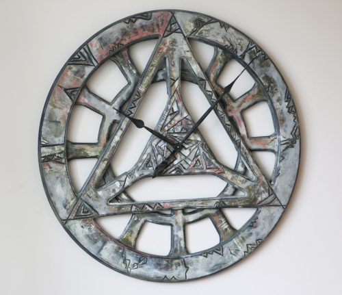Shabby Chic geometric wall clock
