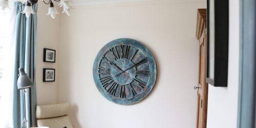Artistic roman numeral bedroom clock