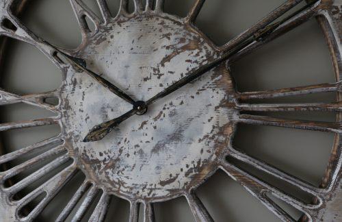 Skeleton Wall Clock - closeup