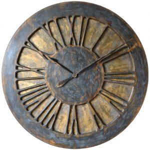 Duży zegar ozdobny na ścianę do salonu
