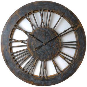 Luksusowy zegar ścienny szkieletowy