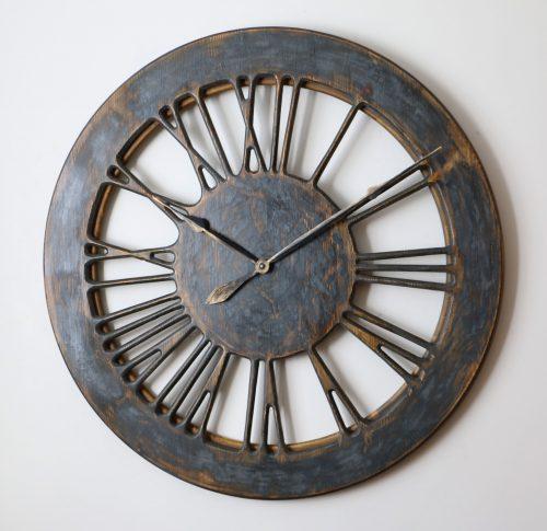 handmade extra large skeleton wall clock