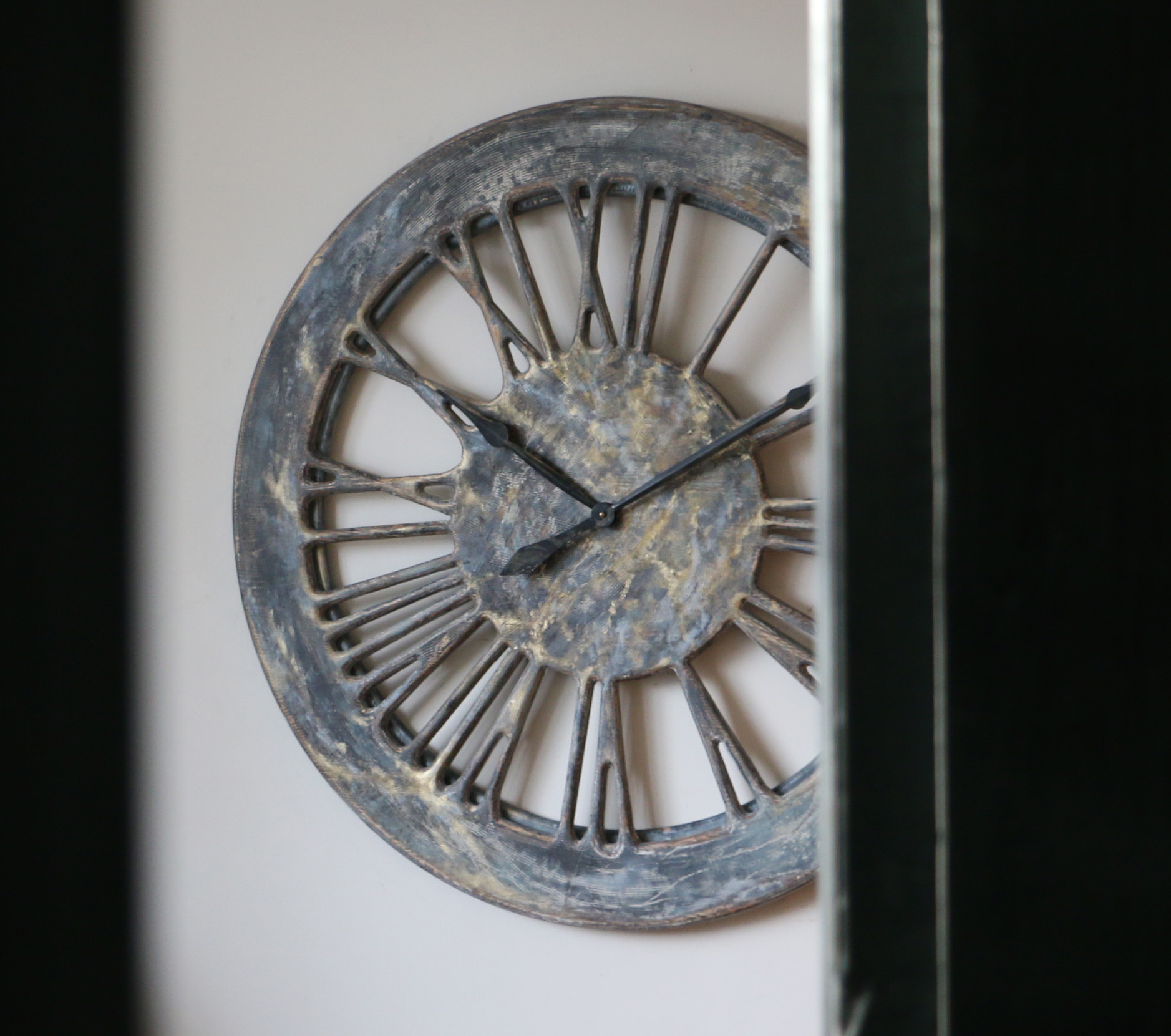 shabby chic wall clock from wood