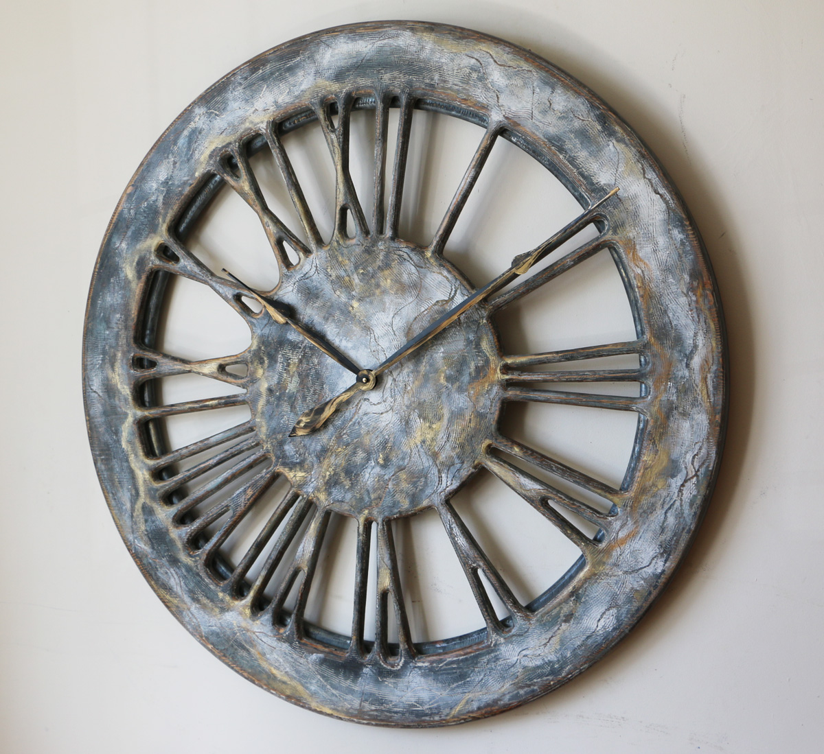 grey shabby chic clock