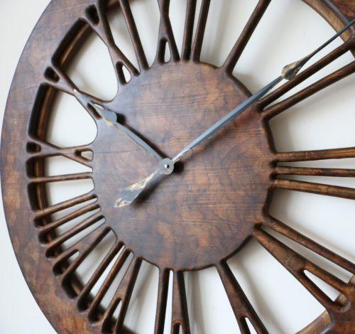 Powiększenie prawej strony zegara ściennego w stylu vintage