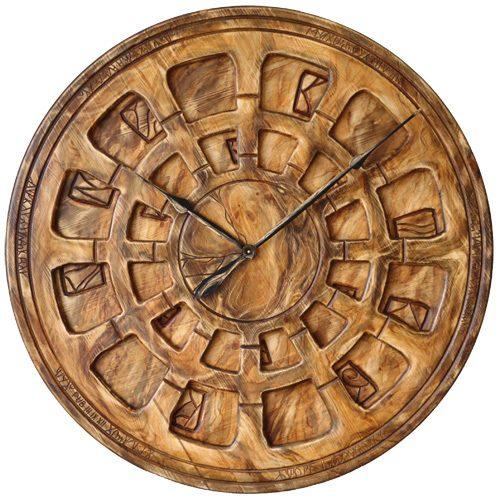 Drewniany Zegar Ozdobny do Salonu