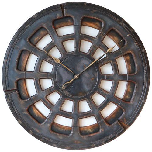 Large Grey Wall Clock