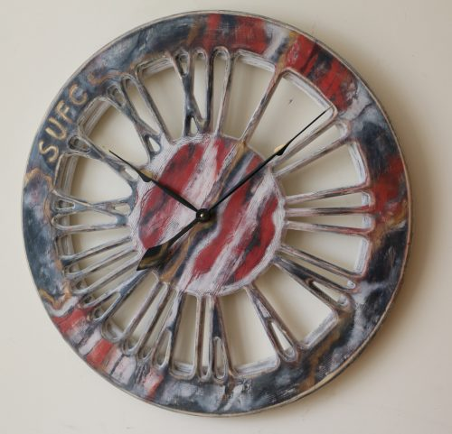 handmade quirky wall clock