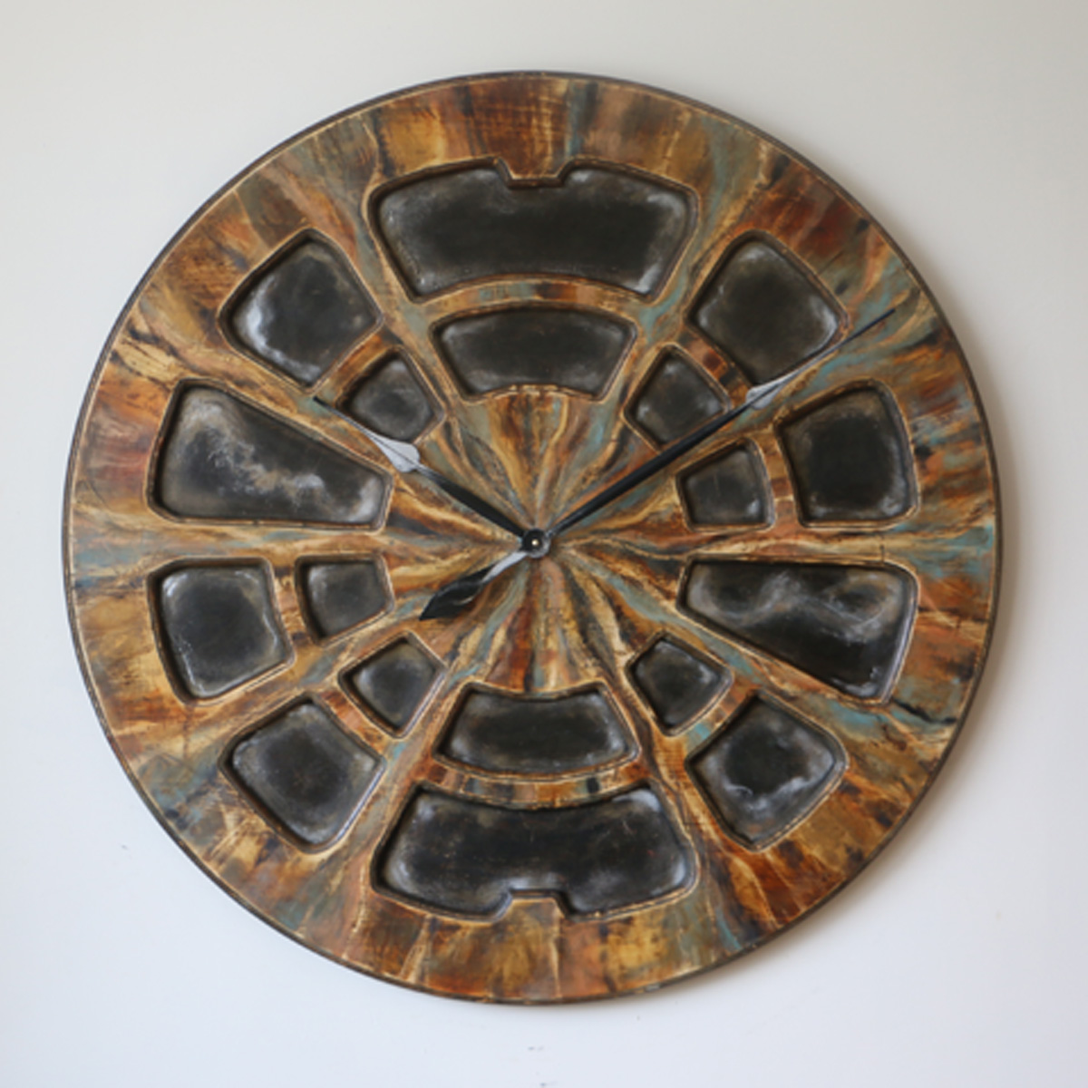Industrial Clock for Wall - Cherokee Front